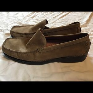 Hush Puppies Calyx Taupe Suede Loafers
